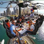 Dinner In The Sky: See Photos And Video Of People Enjoying Dinner 50 Meters Above Ground In Dubai