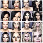 Check out how Professional Makeup Artist Transforms Him Self Into Hollywood Celebrities.