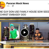Man allegedly donates Family House as