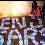 #EndSars: Creativity at it peak! A Baby girl used her Diapers to Form the EndSars. See Reactions.