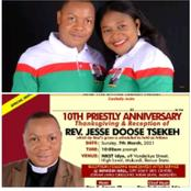 CPC announces 10th Priestly Anniversary Thanksgiving service of Jessy Tsekeh
