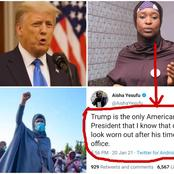 See What Aisha Yesufu Posted About Donald Trump