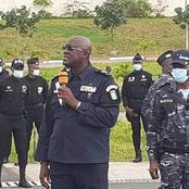 Sécurité : le Directeur Général de la police nationale  à la préfecture de police d'Abidjan