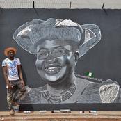 Talented Nigerian Artist Makes Street Painting Of Ngozi Okonjo-Iweala