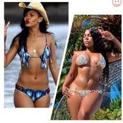 Between Rihanna And Ashanti, Who Slays Better On Bikini outfit? (Photos)