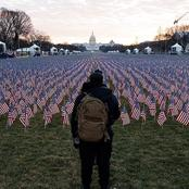 200,000 flags represents 200,000 people who would have attended the inauguration of Joe Biden