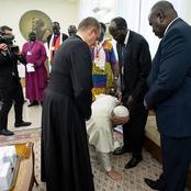 The African President That Pope Francis Once Knelt Down To Kiss His Foot