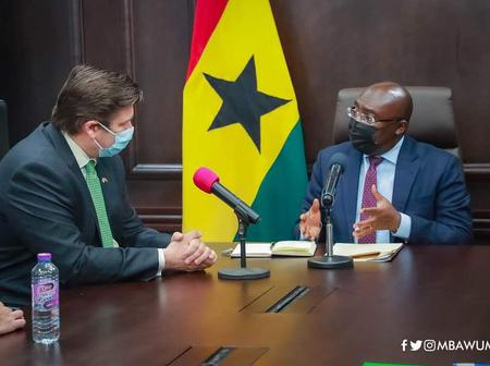 Dr. Mahamudu Bawumia Met Dr. James Heappey, Minister for Armed Forces UK