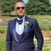 Chiefs legend stun in sophisticated wedding outfit