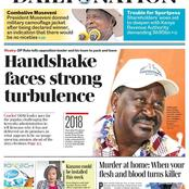 Today's Daily Nation Newspaper Headline: Handshake Faces New Problems, Madam Governor Kananu Swearing In, And Sportpesa Woes