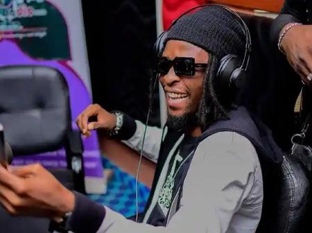 Fans react as Laycon Shares cool photo of himself in the studio
