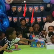 Video: Reactions As Peter Okoye's Children Attended The Birthday Of Their Cousin Andre
