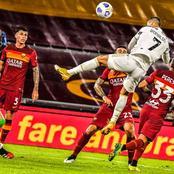 La Juventus de Cristiano Ronaldo bute contre L'AS Roma