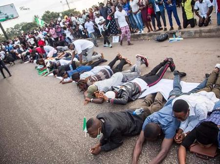 ENDSARS; These are Christians who came out for prayers (see details)