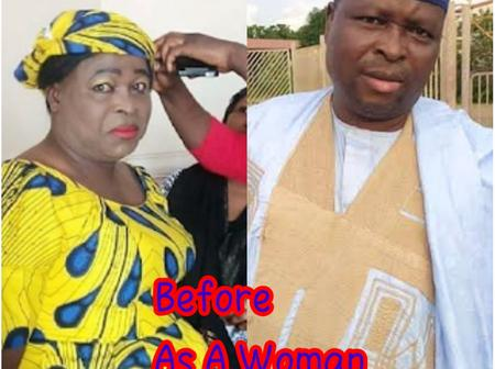 Before And After Pictures Of Hausa Actor, Rabiu Rikadawa On A Movie Set