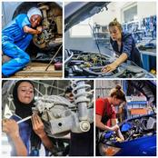 See 20 Photos Of Female Mechanics Repairing Automobiles