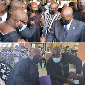 [Photos] Check Out The Moment Akufo-Addo Met Allotey Jacobs and Koku Anyidoho In Tema Today