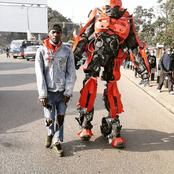 Meet Barbuh Stephen, The Nairobi Business Man Who owns A Robot, And Customized Number plate Cars