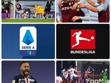 Football: A Rundown Of All The Scoreline In EPL, Laliga, Serie A, German Bundesliga and Ligue 1