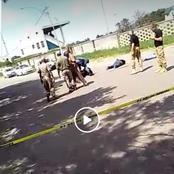 Watch: Armed robbers nailed on Van Riebreeck street, Vereeniging.