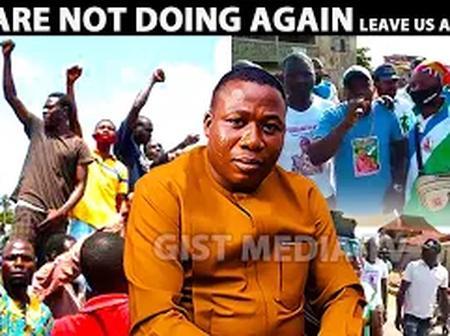 Sunday Igboho: Watch How Yoruba Nation Awareness Campaign Team Stormed Ile-Ife This Afternoon.