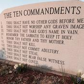 Checkout The 10 Commandments In The Bible.