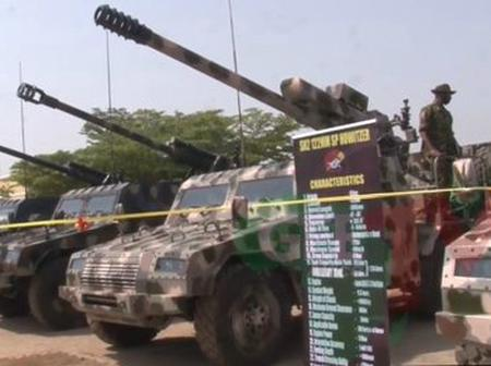 See Photos Of Newly Acquired SH-105MM Mobile Artillery Nigerian Army Just Got