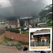 UMP students have burned down their campus main gate and stoned the security guard during strike