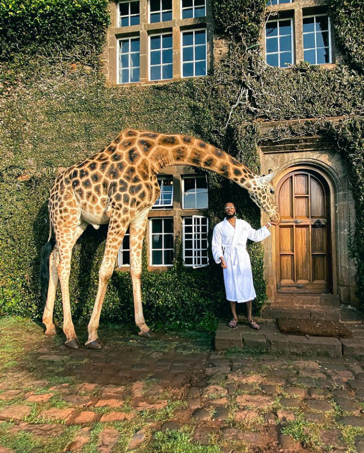 Check Out Lovely Pictures of BBNaija Tolanibaj, Prince And Dorathy Spending Time With Giraffes 18