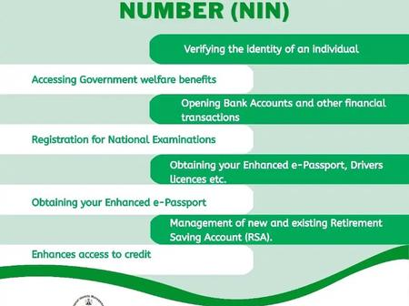Aside Identification Purpose, See Other Benefits of the NIN Number on your National ID Card