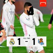 After Real Madrid Drew 1-1, See Their Next Fixture In The La Liga