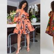 Ankara Vivian Butterfly Short Gown For African Ladies