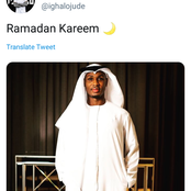 Ighalo Celebrates Ramadan in Saudi Arabia by Dressing Like a Muslim