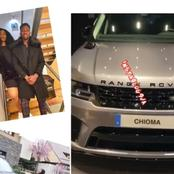 Reaction as footballer Kenneth Omeruo buys Chioma Range Rover car as gift (photos)