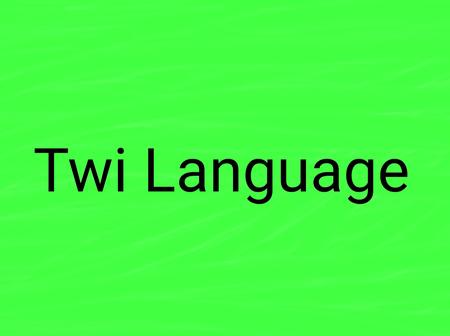 History Of The Language Twi