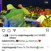 Kabza DE small and DJ Maphorisa shared pictures having a great time in Nairobi Kenya Live show