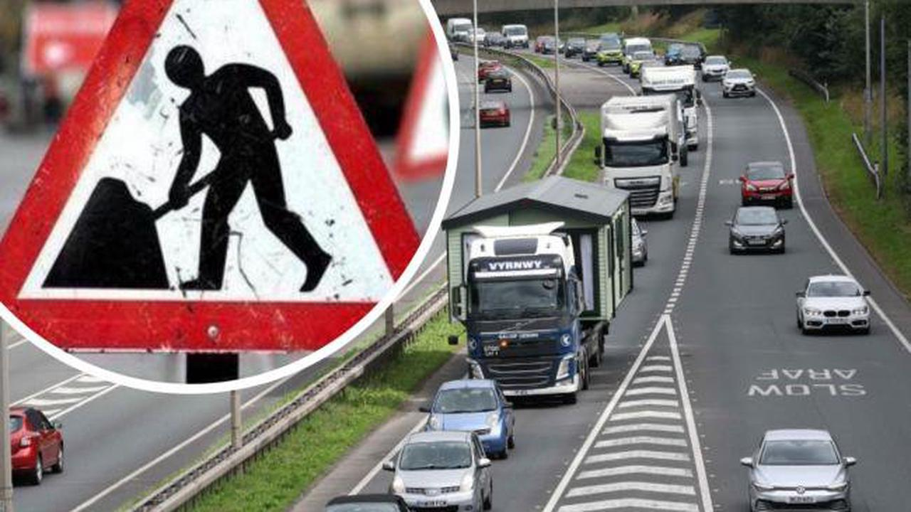 Closures and diversions - what you need to know about resurfacing works on A483 in Wrexham