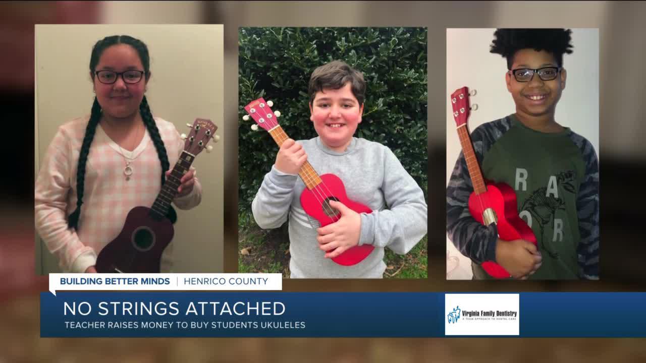 Virginia teacher raises money to buy students ukuleles