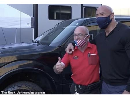 Dwayne Johnson (The Rock) bought a truck for a friend who helped him when he was homeless