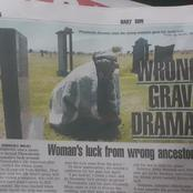 Wrong Grave Drama as Woman Receives Luck from wrong Ancestor!