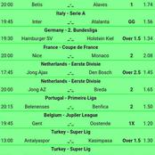 Mega Winning GG, Over 2.5 Goals Multibets To Bank On This Late Night.