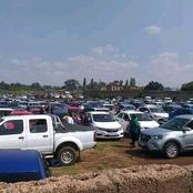 These are the cars that had parked outside Mukhuba's Church.