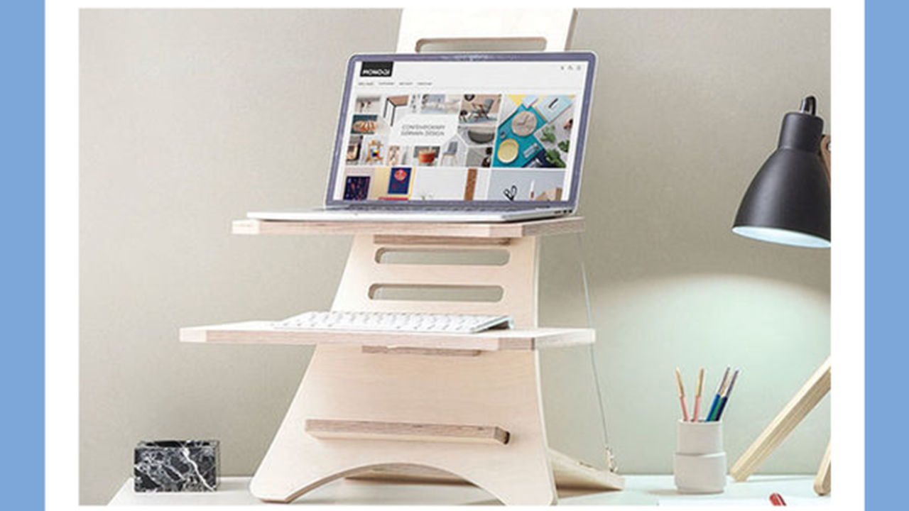 the Stan Desk Adjustable Standing Desk is now on sale for an additional 20% off