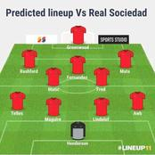 With Cavani and Pogba Out, Manchester United Are Set to Field This 'Lethal' Lineup Against Sociedad