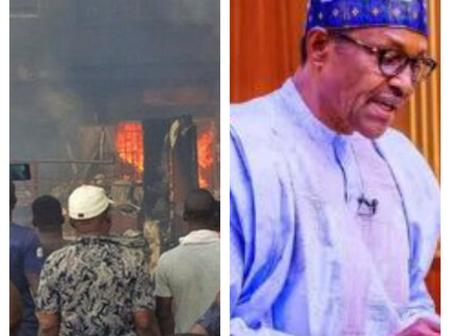 Today's News: Fire outbreak razes market in Lagos, SPN attacks Buhari over medical checkup in London