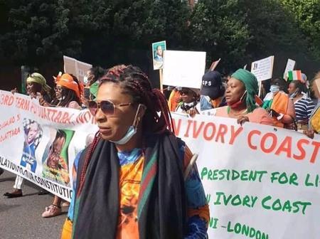3ème mandat : des Ivoiriens vivant à Londres manifestent pour exprimer leur mécontentement