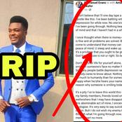 See Last Post Made On Facebook By Man Found Dead With Girlfriend Inside Their Room