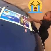 Sad reactions as little girl calls on her dad as she touches his obituary (Video)