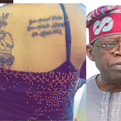 Photos: See What This Die-hard Female Fan Of Tinubu Did To Her Back That Has Sparked Reactions
