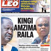 Today Newspapers: 'Kingi Amzima Raila', Vaccination to Begin, IEBC Crisis May Delay Elections